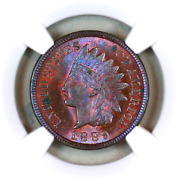 1889 Ms63 Bn Ngc Indian Head Penny Premium Quality Monster Toning