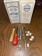 Vintage 1812 Clark Thread Company O.n.t For Hand And Matching Sewing With Tools