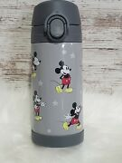 Gray Mickey Mouse Mackenzie Insulated Water Bottle