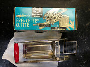 Vintage Ekco Miracle 2- In-1 French Fry Cutter With Extra Shoe String Blade