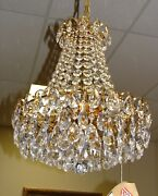 Austrian Chandelier W Crystals On Gold Plated Structure 8 Lights