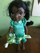 Disney Store Animators Collection Princess And The Frog Toddler Tiana Doll