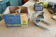 Nos Vintage Accessory Yankee Twin Base Fender Mounting Mirror Side View Chrome