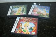 Nintendo Ds Lot Of 3 Tinkerbell Games Lost Treasure Great Fairy Rescue Tinkerbel