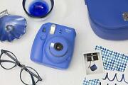 Fujifilm Instax Mini 9 Camera Instant With Mirror For Selfies Blue Navy