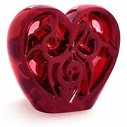 Lalique Crystal Limited Edition Music Is Love Heart Sculpture By Elton John