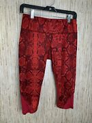 Lululemon Vent It Out Crop Mini Ziggy Snake Red Tide Cranberry