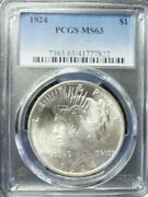 1924-p Peace Dollar Pcgs Ms63 Dollar Prices Are Up