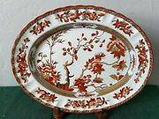 Copeland Spode Indian Tree Oval Platter England Old Marks Free Shipping
