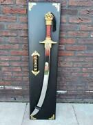 Extremely Rare Franklin Mint The Sword Of Genghis Khan Gold 24k Plated 1988