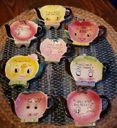 6 I Will Hold The Tea Bag Holders Anthropomorphic Kitschy Vintage Japan