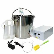 Electric Milking Machine 5l Upgraded Cattle Sheep Pump Stainless Steel Equipment