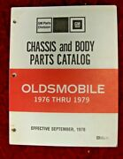 1976 1977 1978 1979 Oldsmobile Chassis And Body Parts Catalog 9/78 Printing