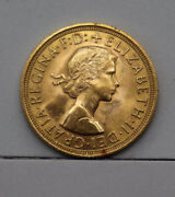 1962 Great Britain Gold Sovereign Elizabeth Ii Coin