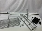 Elaborate Electric Rotisserie Bbq Grill Spit W Motor New Meat And Fish 2 Baskets