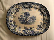 Kenilworth Flow Blue Platter. Made In England