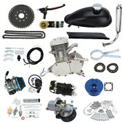 80cc Cycle Motorized 2 Stroke Petrol Gas Engine Kit Air Filterfor Motor Bicycle