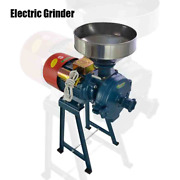 220v Electric Grinder Feed Mill Wet Dry Cereals Rice Grain Coffee Wheat High Kit