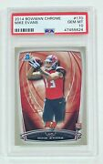 2014 Bowman Chrome Mike Evans Psa 10 Rookie Card Rc Tampa Bay Buccaneers