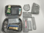 Vintage United Airlines Amenity Kit W/ Hermes Shave Cream And Listermint Mouthwash