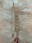 Christian Dior Lambskin Leather Removable Strap For Lady Dior Bag In Off-white