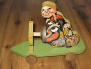 Antique Vtg Fisher Price 703 Popeye The Sailor Pull Toy 1936 Wood Rare Original
