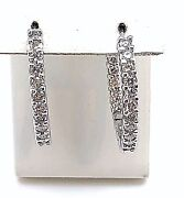 Diamond In And Out Hoops 14k Wg Approx. 2.10cts Si-i Color I Stunning