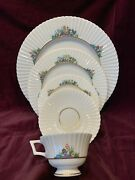 Lenox Rutledge China 5 Piece Place Setting - Beautiful Andnbsphand Painted P-303