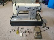 Vintage Sears Kenmore Portable Sewing Machine Model 158-320 Pedal Case And Extras