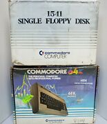 Commodore 64 Computer And 1541 Floppy Disk Drive W/ Original Boxes And Cables Tested