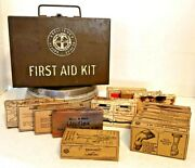 Vintage Mine Safety Appliances Co First Aid Kit Metal Box Full Of Supplies
