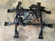 Tuscany Speakeasy Door Grille 13 X 15 1/4 Grapes Vine And Leaves Black Iron