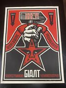 Shepard Fairey. Obey Hammer And Fist. Og Early 2000and039 Hand Screened 18x24