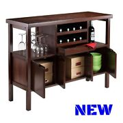 Classic Buffet Cabinet Wine Rack Table Bottle Holder Display Storage Sideboard