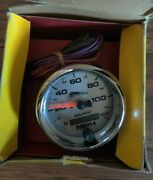 Autometer Pro Cycle Speedo Speedometer 19352 Ds244173 120mph Silver Face New