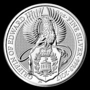 2017 2 Oz Andpound5 Uk Queen Beast The Griffin Silver Coin