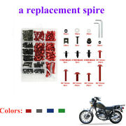 193pcs Motorcycle Fairing Bolts Kit Fastener Clips Screw Fixing Pin Panel Parts