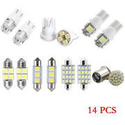14pcs/lots Led Lights Interior Package 1157 T10 31 36mm Map Dome License Plates
