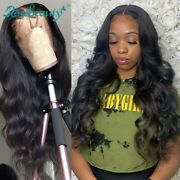 Body Wave 13x4 Lace Frontal Wigs Pre Plucked With Baby Hair Remy Human Hair Wigs