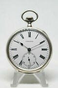 Longines Cal.18.69n Silver Pocket Watch Grands Prix Good Beautiful Condition
