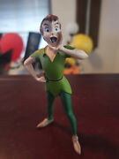 Extremely Rare Walt Disney Peter Pan Standing Calling Small Figurine Statue