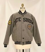 New Menand039s Late Show With David Letterman Regis Philbin Gray Wool Jacket Sz M