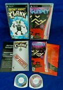 Psp Secret Agent Clank Gundey W/ Manuals And Inserts Discs Ln Free Shipping