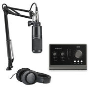 Audio-technica At2020 Studio Mic Pack W/ Audient Id14 Mkii Audio Interface