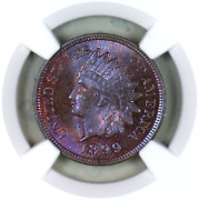 1899 Ms63 Bn Ngc Indian Head Penny Premium Quality Monster Toning