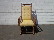Antique Rocking Chair Rocker Armchair Spindle Traditional Shabby Chic Country