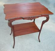 Antique Victorian Lamp Parlor End Table Side Table Rare Original Newly Restored