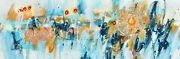 Abstract Art - All Across The Universe - 12 X 36 In Abstract Painting