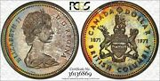 1971 Canada British Columbia Silver 1 Dollar Pcgs Sp67 Color Toned Graded Coin