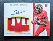 2015 National Treasures Stefon Diggs Autograph Logo Patch Auto Rpa Rc /10 Bills